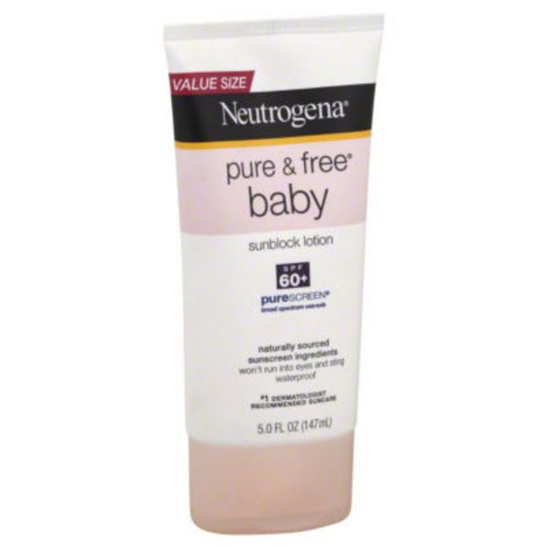 Neutrogena® Lotion SPF 60+ Posted 6/20/2013 Pure & Free™ Baby Sunblock