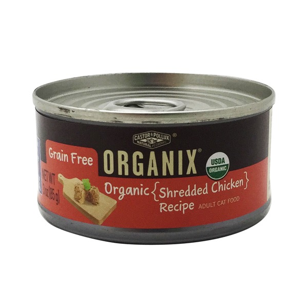 Organix Organic Shredded Chicken Canned Cat Food