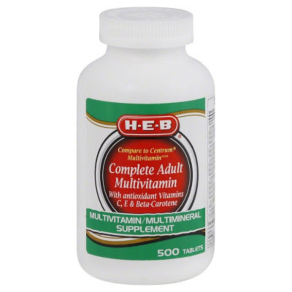 H-E-B Complete Multivitamin Tablets