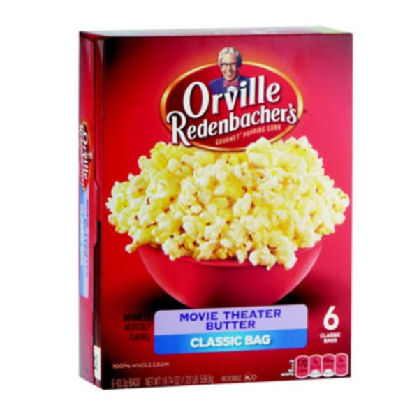 Orville Redenbacher's Gourmet Popping Corn Classic Bag Movie Theater Butter - 6 CT
