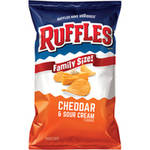 Ruffles Cheddar Sour Cream Ridged Potato Chips
