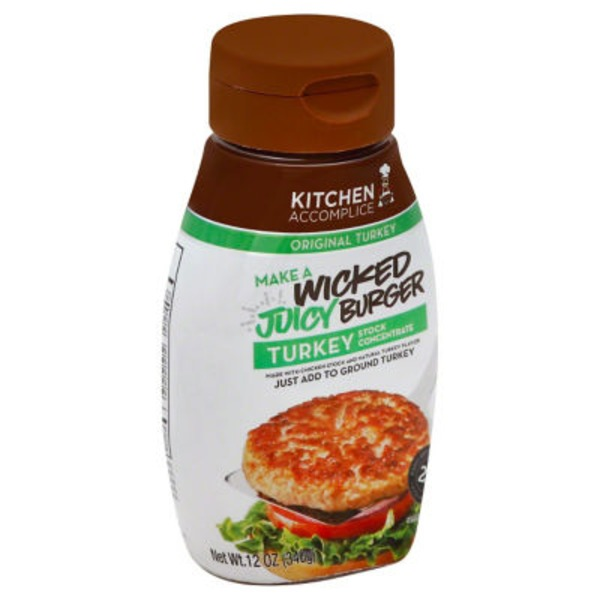 Kitchen Accomplice Original Turkey Make A Wicked Juicy Burger Turkey Stock Concentrate