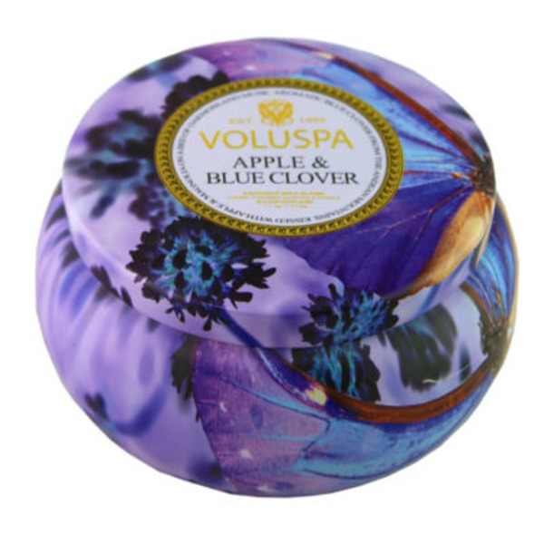 Voluspa Apple & Blue Clover 2‑Wick Candle