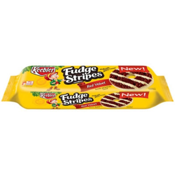 Keebler Fudge Stripes Red Velvet Cookies