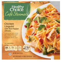 Healthy Choice Cafe Steamers Chicken Linguini with Red Pepper Alfredo, 9.8 ounces