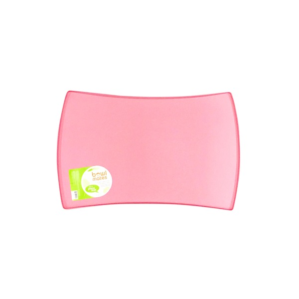 Bowl Mates Pink Medium Silicone Dog Placemat