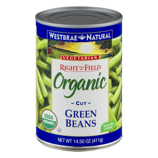 Westbrae Natural Vegetarian Right from the Field Organic Cut Green Beans