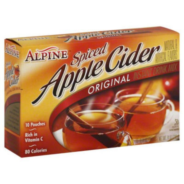 Alpine Cider Spiced Cider Instant Drink Mix Original Apple Flavor