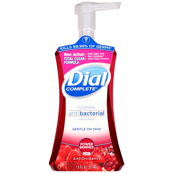 Dial Foaming Hand Wash Complete Antibacterial Power Berries with Antioxidants Foaming Hand Wash