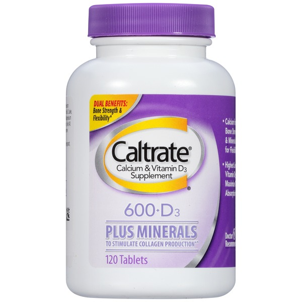 Caltrate 600+D3 Plus Minerals Tablets Calcium & Vitamin D3 Supplement