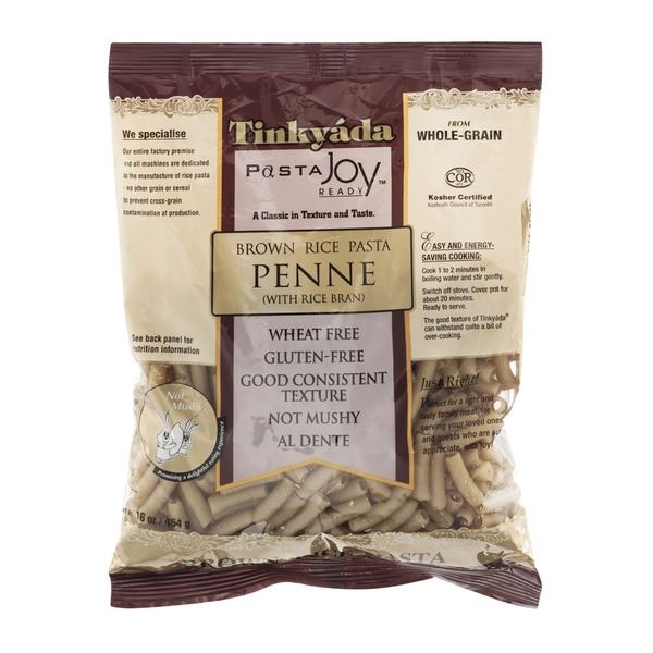 Tinkyada Pasta Joy Ready Brown Rice Pasta Penne with Rice Bran