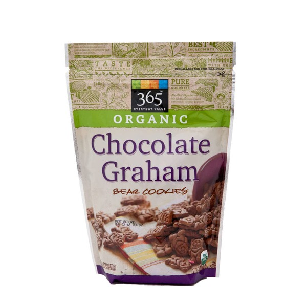 365 Organic Chocolate Graham Teddy Bears Cookies