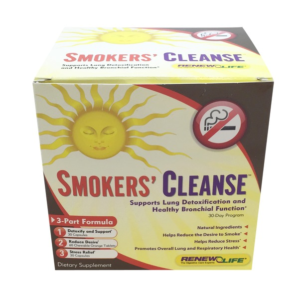 ReNew Life Smokers' Cleanse, 3-Part Formula, 30-Day Program