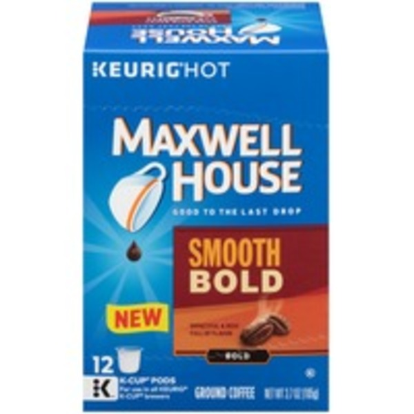 Maxwell House Smooth Bold K-Cup Pods Coffee