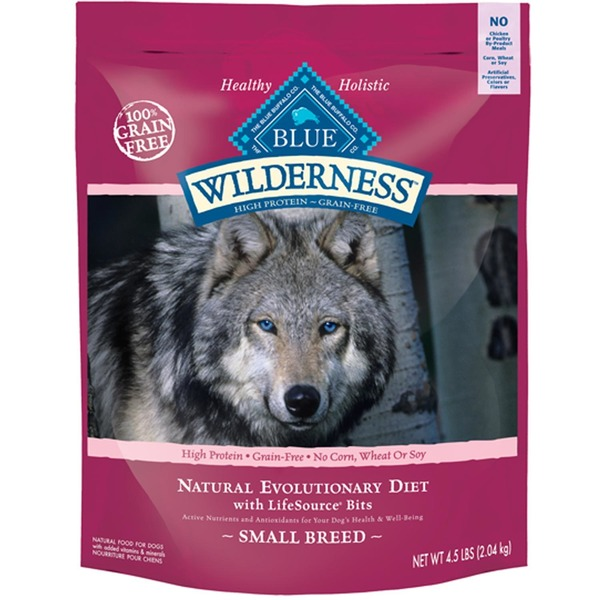Blue Buffalo Dog Food, Dry, Wilderness, Small Breed, Bag