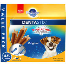 Pedigree Dentastix Original Large Treats for Dogs 1.57 lb Bag