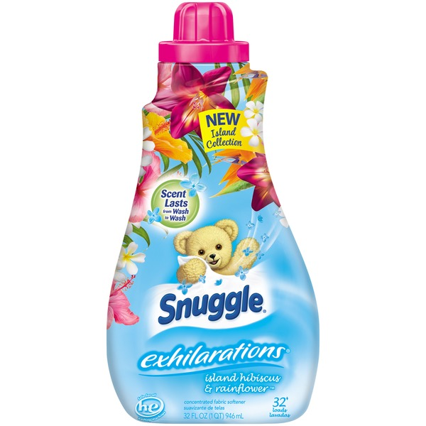 Snuggle Concentrated Exhilarations Island Hibiscus & Rainflower 32 Loads Liquid Fabric Softener