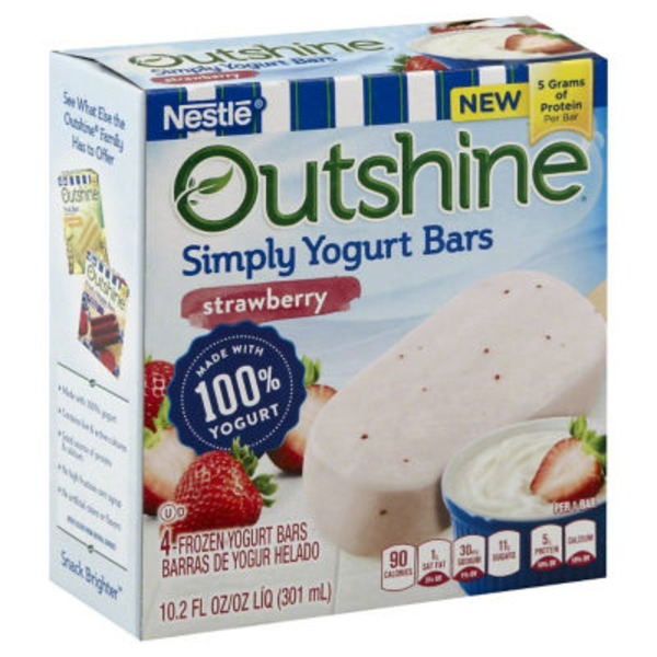 Edy's Outshine Strawberry Yogurt Bars