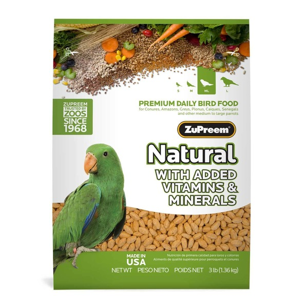 Zu Preem Avian Maintenance Natural Bird Diet For Parrots & Conures