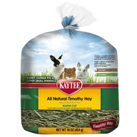 Kaytee All Natural Timothy Hay Wafer Cut for Rabbits, Guinea Pigs & Other Small Animals