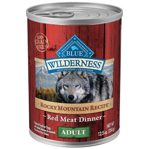 Blue Buffalo 100% Grain Free Wilderness Rocky Mountain Recipe Red Meat Dinner Adult Natural Food for Dogs