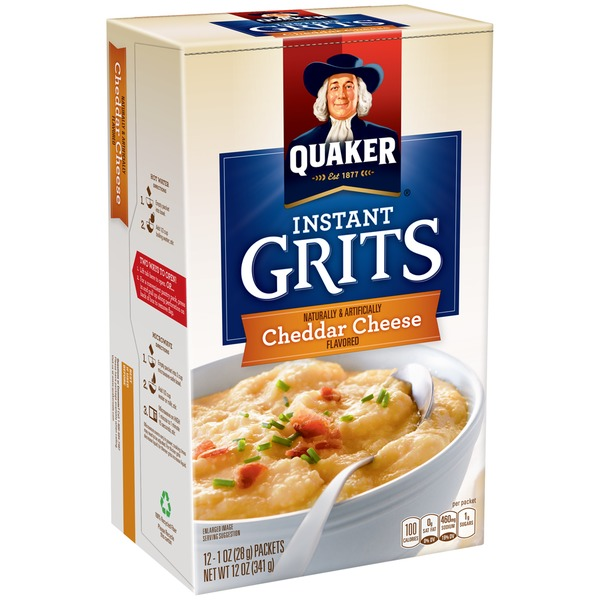 Quaker Instant Cheddar Cheese Flavor Grits