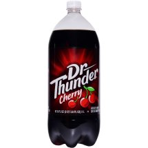 Dr Thunder Soda, Cherry, 67.6 fl oz