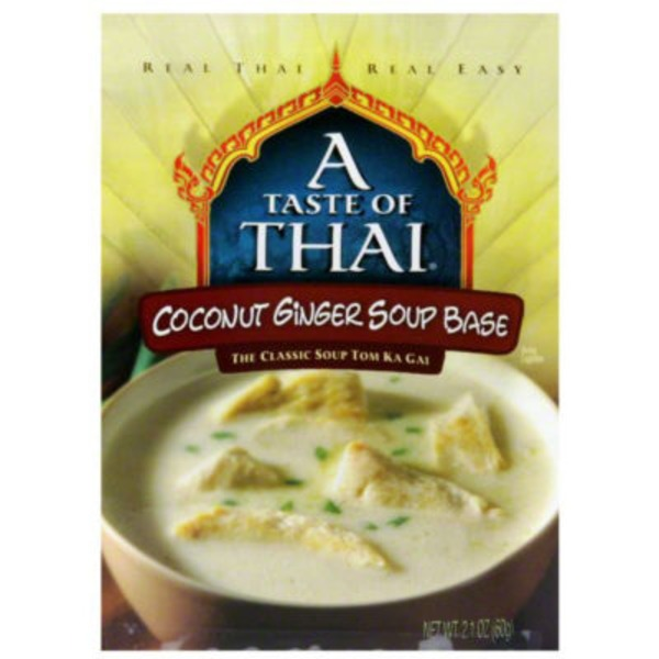 A Taste of Thai Soup Base, Coconut Ginger, Box