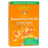 Annie's Homegrown Organic Bunny Sunny Citrus Fruit Snacks
