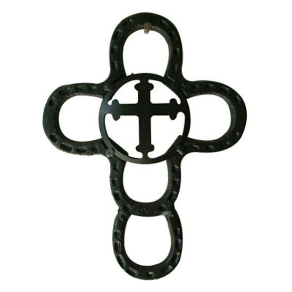 Interpro Extra Small Horseshoe Cross Concho