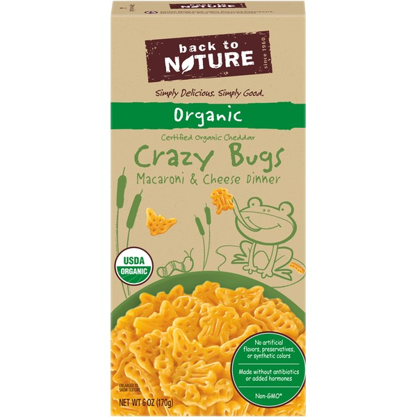 Back to Nature Organic Cheddar Crazy Bugs Macaroni & Cheese Dinner