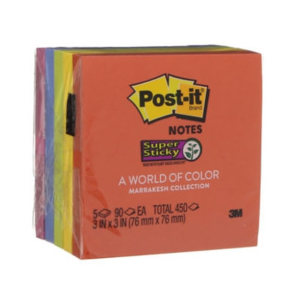 Post-it Notes Super Sticky - 5 PK