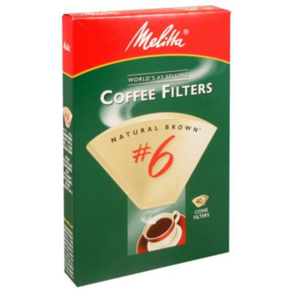 Melitta Natural Brown Paper #6 Size Cone Coffee Filters