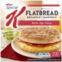 Kellogg's Special K Bacon, Egg & Cheese Flatbread Breakfast Sandwich, 4 ct, 13.4 oz