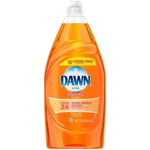 Dawn Antibacterial Dishwashing Liquid Orange 34.2 Oz Dish Care