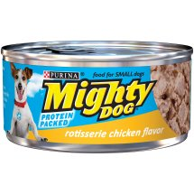 Purina Mighty Dog Rotisserie Chicken Flavor Dog Food 5.5 oz. Pull-Top Can