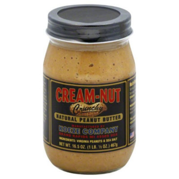 Cream Nut Peanut Butter Crunchy
