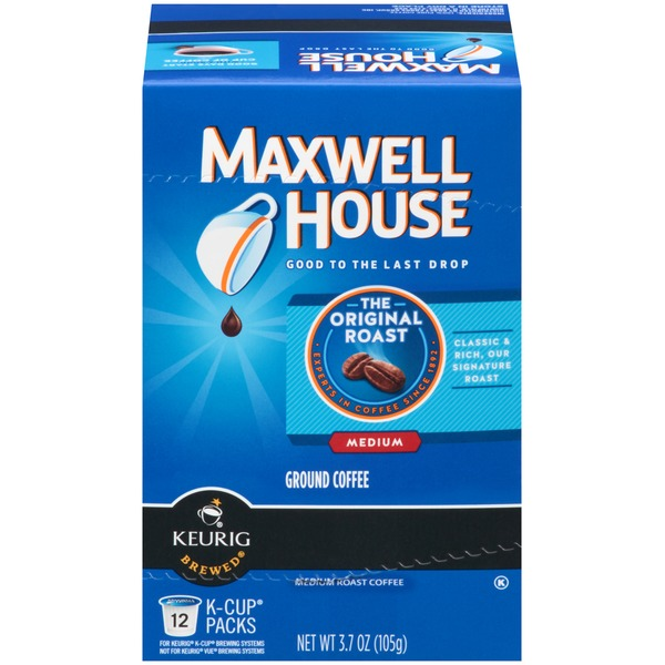 Maxwell House Original Roast Medium K-Cup Packs Coffee