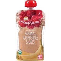 Happy Baby/Family Bananas, Raspberries & Oats Organic Baby Food
