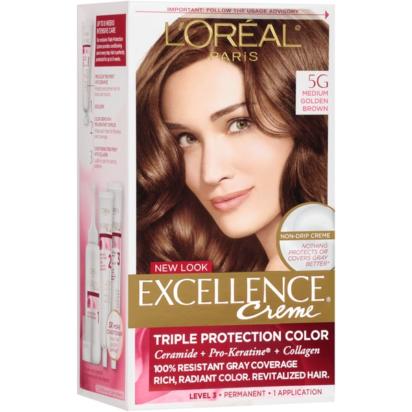 Excellence Creme 5G Medium Golden Brown Hair Color