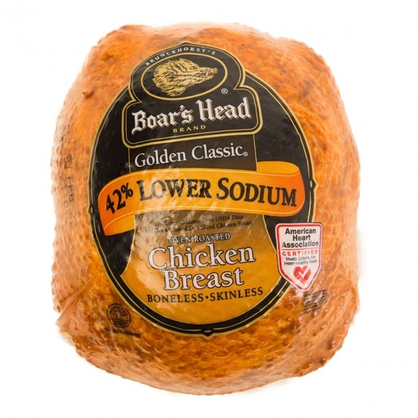 Boar's Head Golden Classic Oven Roasted Chicken Breast, Low Sodium