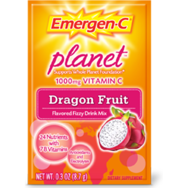 Emergen-C Planet Vitamin C 1000 Mg Dragon Fruit Drink Mix Dietary Supplement