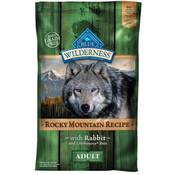 Blue Buffalo Food for Dogs, Natural, Rocky Mountain Recipe, Adult, with Rabbit