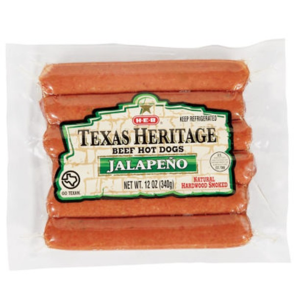 H-E-B Texas Beef Heritage Jalapeno Beef Hot Dogs