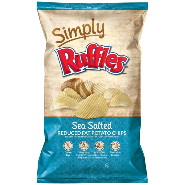 Ruffles Sea Salted Reduced Fat Potato Chips