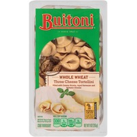 Buitoni Freshly Made. Filled with creamy Ricotta, Aged Parmesan and Romano Cheeses Whole Wheat Three Cheese Tortellini