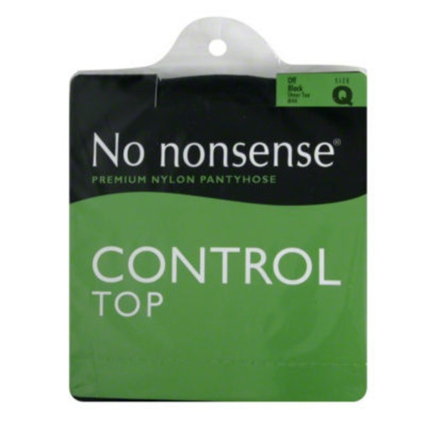 No Nonsense Premium Nylon Pantyhose Central Top Size Q