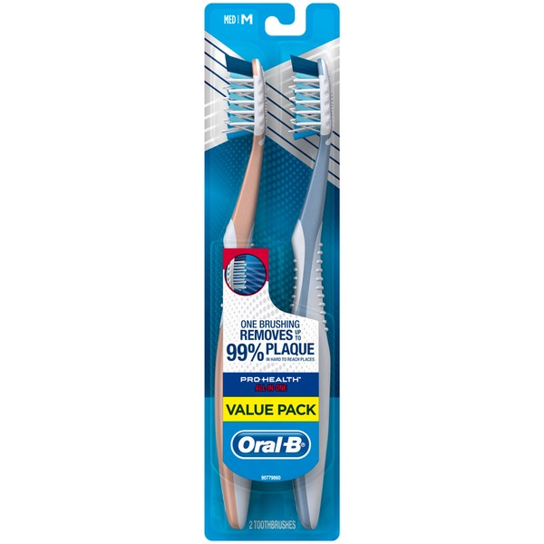 Oral-B CrossAction Oral-B Pro-Health All-in-One Toothbrush, 2 ct 40M Manual Oral Care