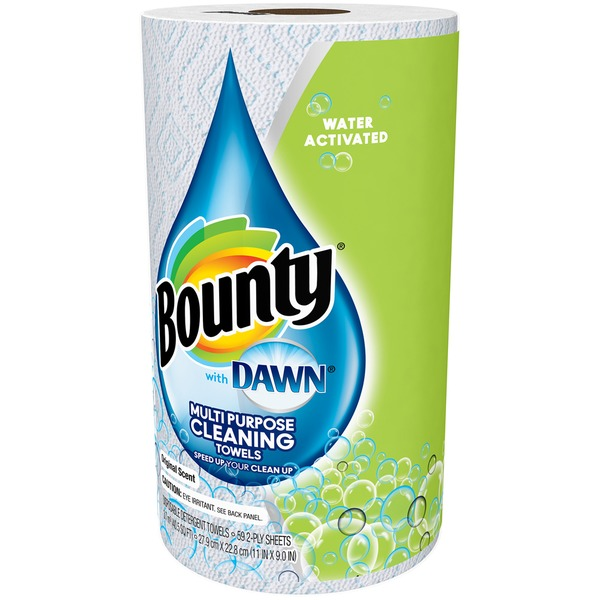 Bounty Basic With Dawn Bounty with Dawn, White, 1 Giant Roll Towels/Napkins