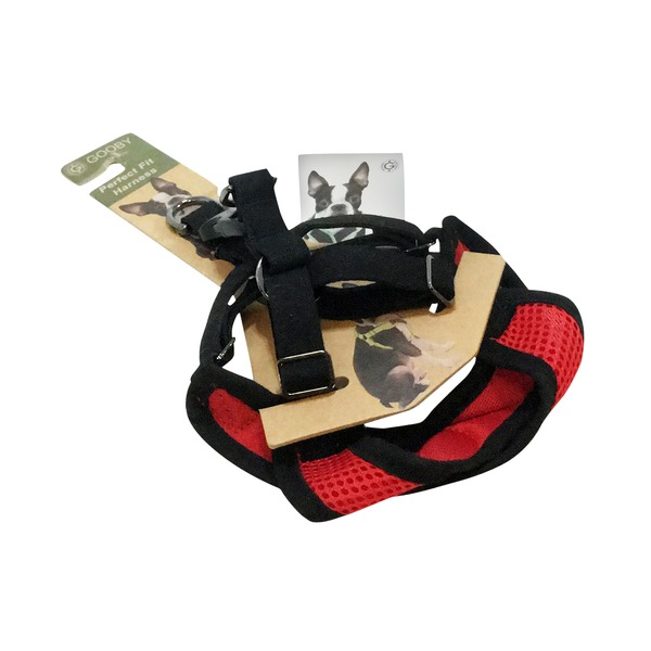 Gooby Small Red Perfect Fit Dog Harness